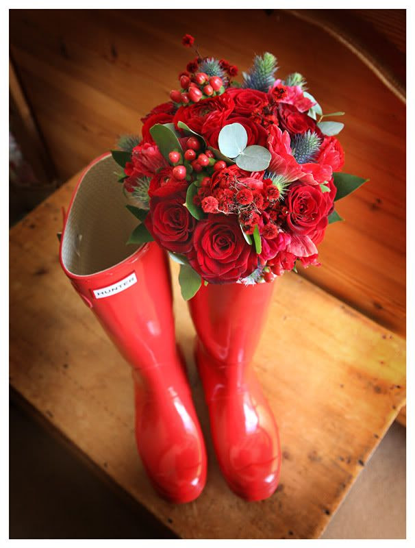 Wedding photography at the Reid Rooms_Essex wedding photography_Phil Lynch Photographer, Wedding flowers with wellies