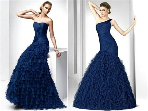 Midnight Blue Wedding Dress