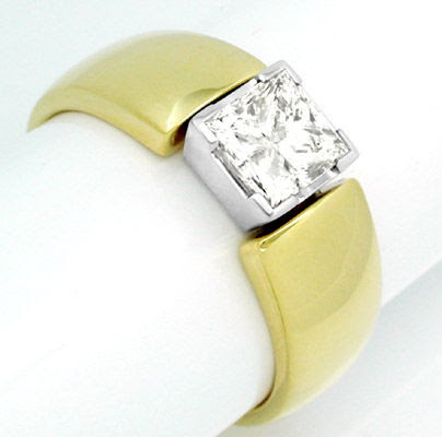 Foto 1, Diamant-Ring 1,13ct-Princess-Cut Handarbeit Luxus! Neu!, S8386