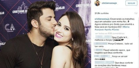 Fãs escrevem mensagens de apoio nas redes sociais do cantor. / Foto: Reprodução / Instagram