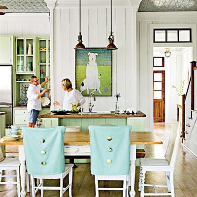 coastal living tropical kitchen