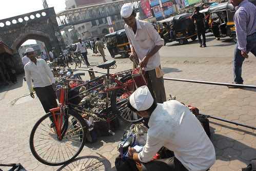 Can You Imagine The Pain of The Dabbawala When The Cycle Breaks Down by firoze shakir photographerno1