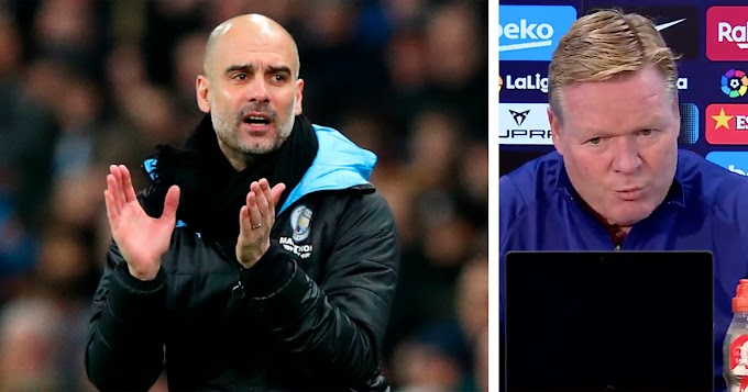 Barcelona boss Koeman reacts to Guardiola extending City deal: 'He's a reference for all managers'
