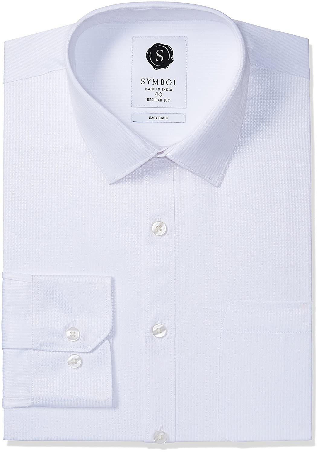Deals on l Men's Formal Dobby Regular Fit Shirt