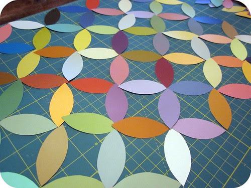 Circle Paint Chip Wall Art 004