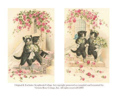 Our Custom Vintage Wedding Cats Invitation Postage