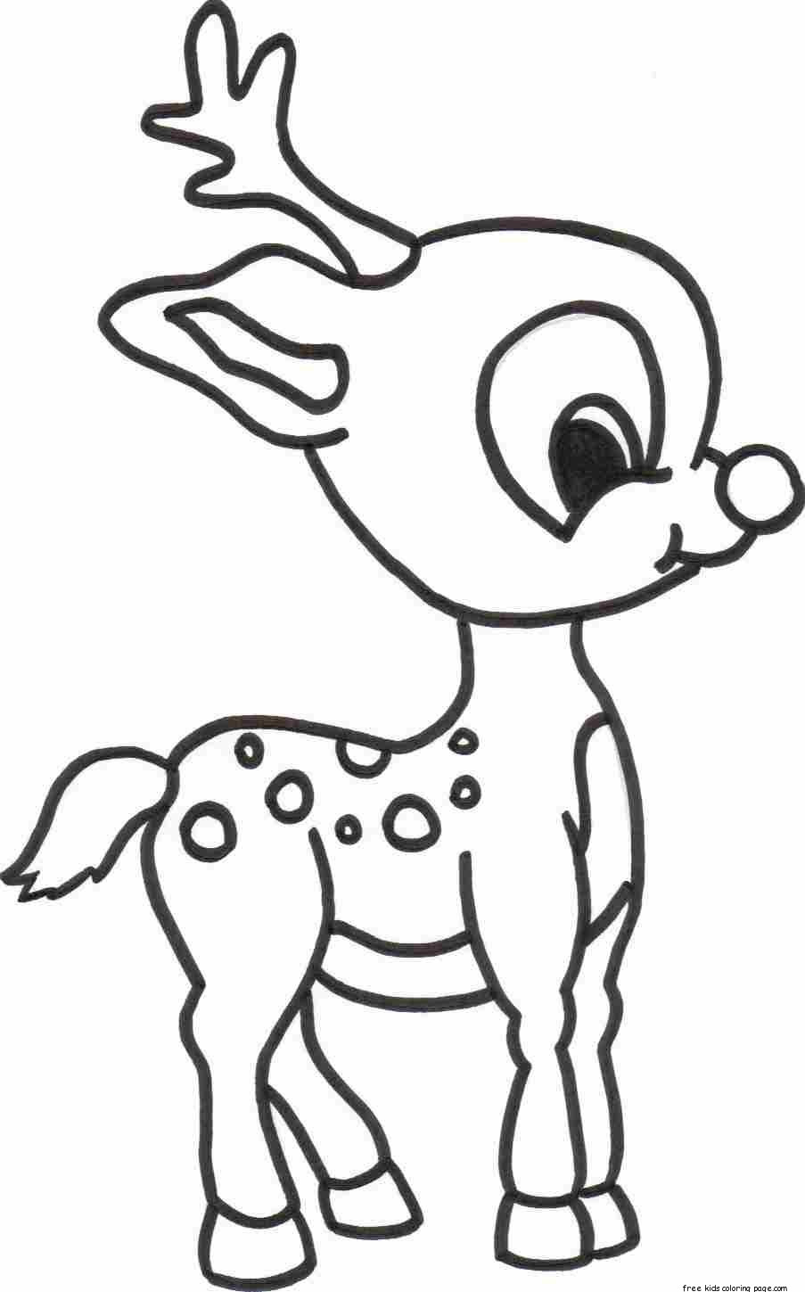 Christmas Baby Reindeer Printable Coloring pages for ...