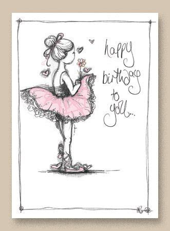 Happy Birthday to You Ballerina   Tracey Russell   Drawn