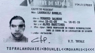 Mohamed Lahouaiej Bouhlel's ID Card