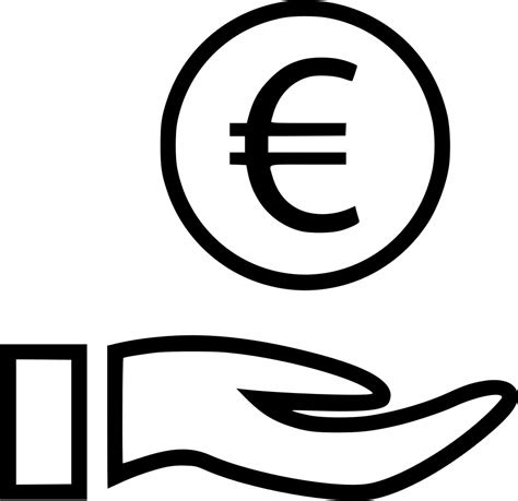 euro sign wealth hands hand coin svg png icon