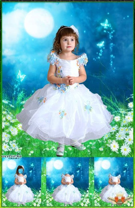 Girls dress costumes psd templates