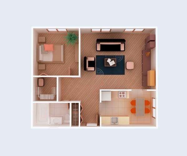 ... small house floo