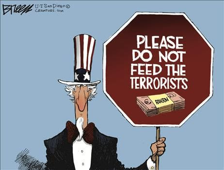 Image result for iran ransom cartoons