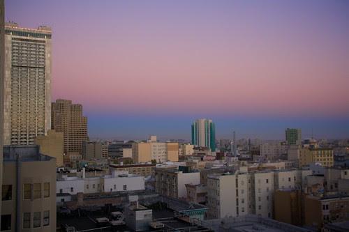 Sunset over the Tenderloin and SOMA