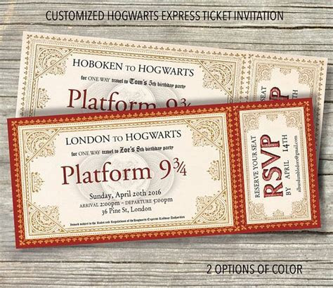 25  best ideas about Harry Potter Invitations on Pinterest