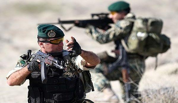 Un commando des forces terrestres du Corps des Gardiens de la Révolution islamique (CGRI)
