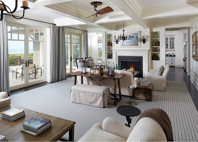 Coastal Living Room. Coastal Living Room Decor. Hampton style living room decor. #LivingRoom #CoastalDecor #CoastalInteriors  The Anderson Studio of Architecture & Design.