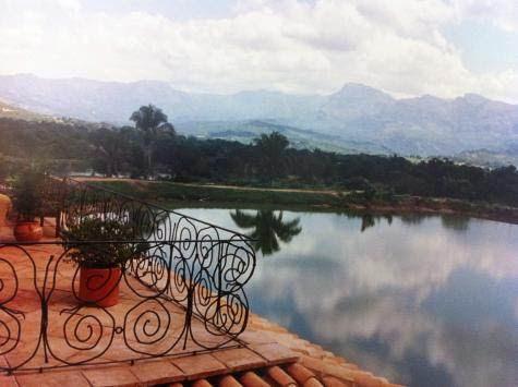 Un lac artificiel chez les Gaubert