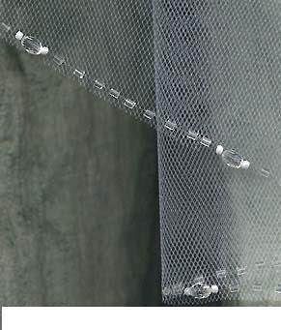 Wedding Veils Bridal Veils  Elbow length Ivory Veil Stunning Swarovski Crystal Beaded Edge
