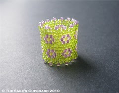 Sour Apple Sweet Violet Ring by The Sage's Cupboard