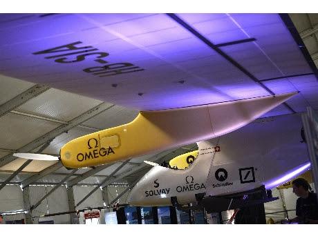 El Solar Impulse antes del despegue (ANSA)