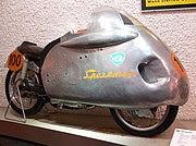 NSU Sportmax streamlined motorcycle, 250 cc class winner of the 1955 Grand Prix season
