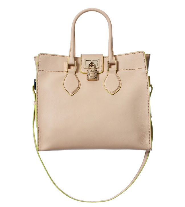 Roberto Cavalli 'Florence' Bag - opaque calf leather with fluorescent edging