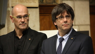 Raül Romeva i Carles Puigdemont (ACN)