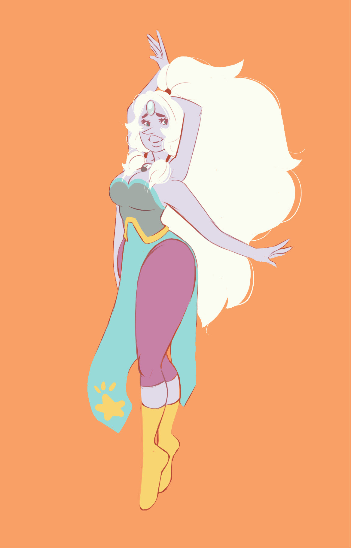 I got commissioned to draw the fusions in Steven Universe, so I figured I'd go in order of how they appear. So, first is Opal~!