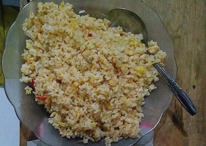 Resep Unggulan: Nasi goreng telur sederhana Paling Enak