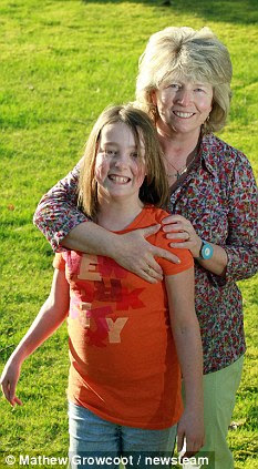 Survivor: Molly Griffith, 11, pictured here with her mother Ursula, was born 17 weeks early and is healthy now (see below)
