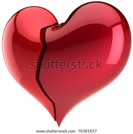 broken love heart symbol