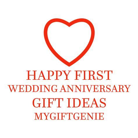 Traditional Modern 1st Wedding Anniversary Gifts For