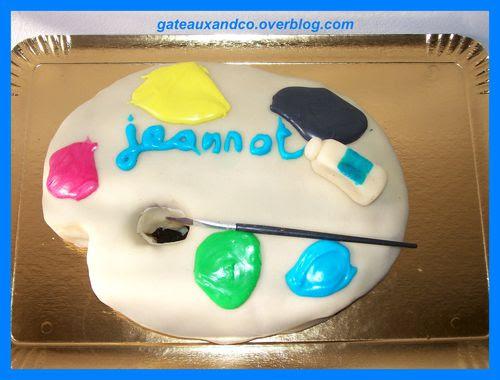 Gâteau Palette De Peinture Gateauxandco
