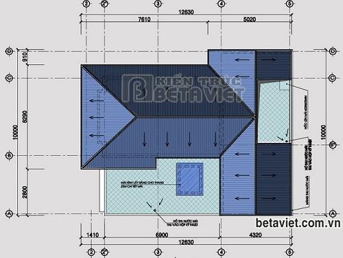 Tư vấn thiết kế biệt thự 3 tầng sang trọng, DT 10x14,7m   ảnh 5