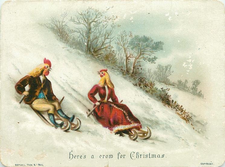"""Here's a crow for Christmas"" (via TuckDB Ephemera)"
