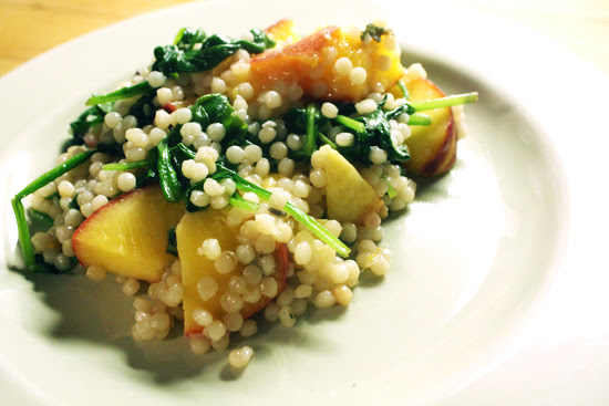 recipe-sage-lavender-peach-spinach-couscous