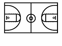 Half Court Basketball Diagram