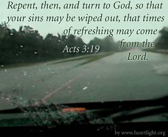Inspirational illustration of Acts 3:19