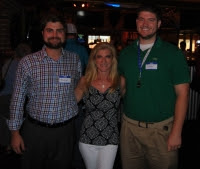 Bob Farrell, Christina Van Natta, Michael Madden present at Texas Roadhouse Easton Event #networking