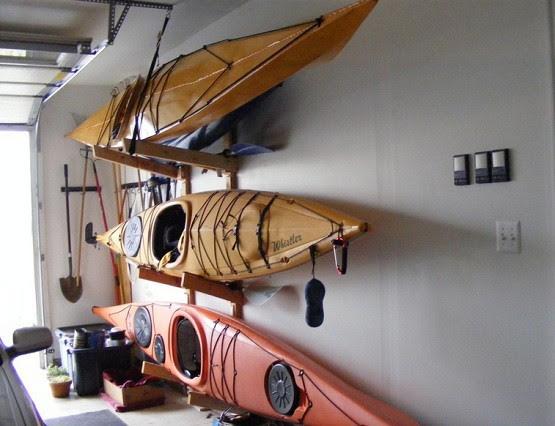 How To Create Kayak Garage Storage | Home Interiors