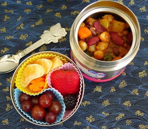 Bean and Hominy Chili Bento by sherimiya ♥
