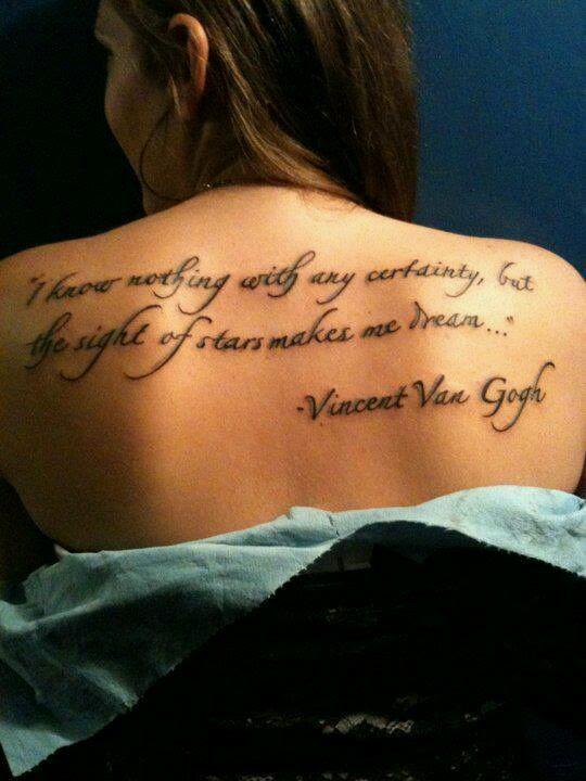 Van Gogh Quotes Tattoos. QuotesGram