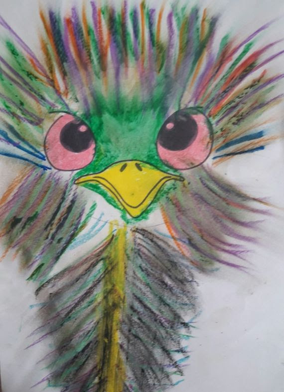 Pastel Boyadan Deve Kuşu Eğitim Bilişim Ağı