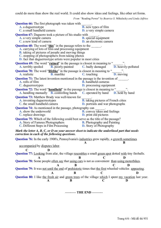 thi thu tieng anh khoi a1 nam 2013 trang 6