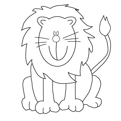 cute baby lion coloring pages printable