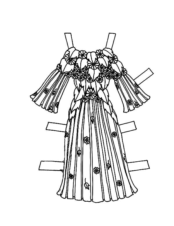 Happy Birthday Barbie Doll Dress Coloring Pages | Coloring Sky