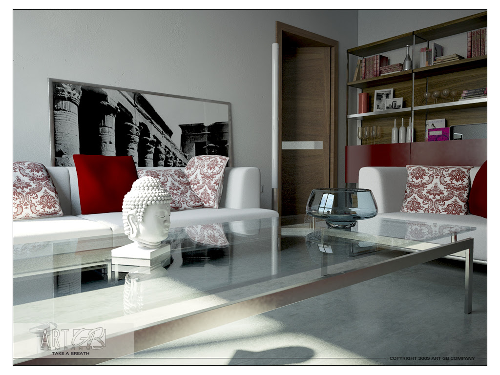 15 Red and White Living Rooms