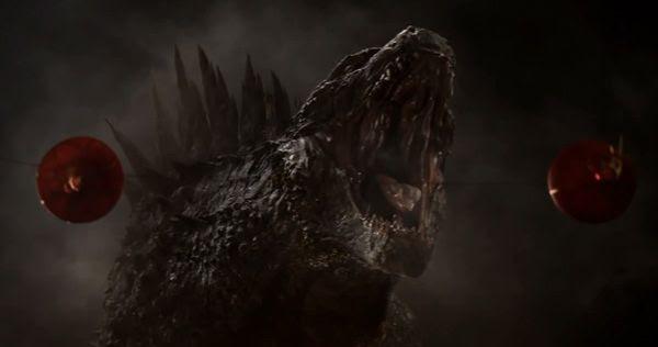 Godzilla roars in GODZILLA.