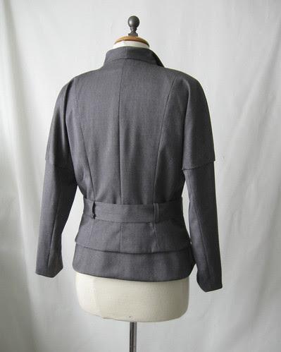 Jacket back finished